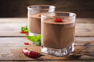 Link to recipe for chocolate and chilli mousse